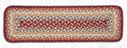 "Capitol Earth Rugs Braided Jute Stair Tread, 8.5"" x 27"" Rectangle, Thistle Green/Country Red"