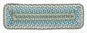 "Capitol Earth Rugs Braided Jute Stair Tread, 8.5"" x 27"" Rectangle, Sage/Ivory/Settler's Blue"