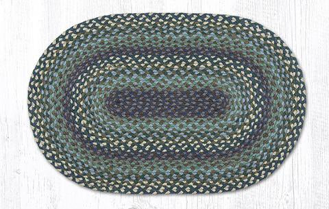 "Capitol Earth Rugs Blueberries & Cream Traditional Braided Rug - Oval 20"" x 30"""