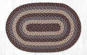 "Capitol Earth Rugs Blue Traditional Braided Rug, Oval 20"" x 30"""