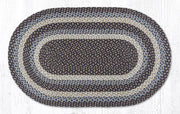 "Capitol Earth Rugs Blue Traditional Braided Rug, Oval 27"" x 45"""