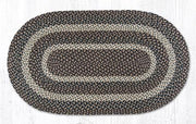 "Capitol Earth Rugs Tan Traditional Braided Rug, Oval 27"" x 45"""