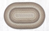 "Capitol Earth Rugs Natural Traditional Braided Rug, Oval 20"" x 30"""