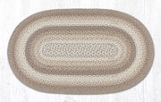 "Capitol Earth Rugs Natural Traditional Braided Rug, Oval 27"" x 45"""