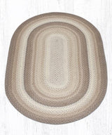 Capitol Earth Rugs Natural Traditional Braided Rug, Oval