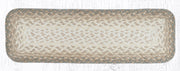 "Capitol Earth Rugs Braided Jute Stair Tread, 8.5"" x 27"" Rectangle, Natural"