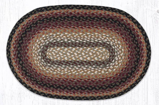 "Bear Vineyard Traditional Braided Rugs - Oval 20"" x 30"""