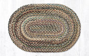 "Capitol Earth Rugs Random Traditional Braided Rug, Oval 20"" x 30"""