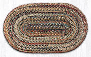 "Capitol Earth Rugs Random Traditional Braided Rug, Oval 27"" x 45"""