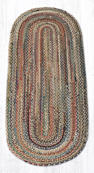 Capitol Earth Rugs Random Traditional Braided Rug, Oval 2' x 6'