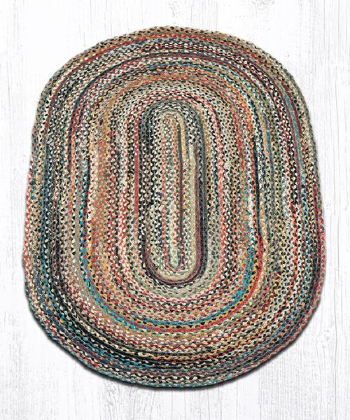 Capitol Earth Rugs Random Traditional Braided Rug, Oval