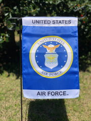 U.S. Air Force Emblem Lustre Garden Flag
