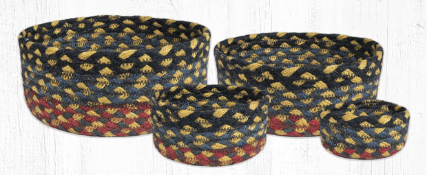 Jute Braided Casserole Baskets, set of 4 - MORE COLOR OPTIONS