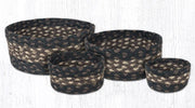 Capitol Earth Rugs Jute Braided Casserole Baskets, set of 4 - Mocha/Frappuccino