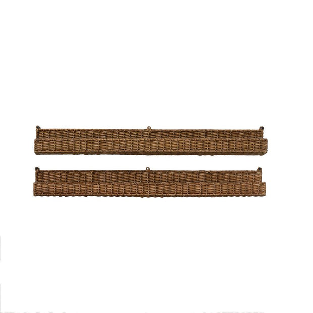 "Creative Coop Hand-Woven Rattan Wall Ledge, 36""L x 4""W"