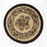 Capitol Earth Rugs Printed Chair Pad, Pinecone