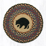 Capitol Earth Rugs Printed Chair Pad, Black Bear