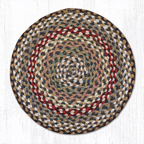 Capitol Earth Rugs Braided Jute Chair Pad, Fir/Ivory