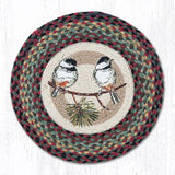 Capitol Earth Rugs Printed Chair Pad, Chickadee