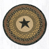 Capitol Earth Rugs Printed Chair Pad, Black Star