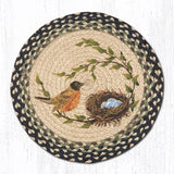 Capitol Earth Rugs Printed Chair Pad, Robin's Nest