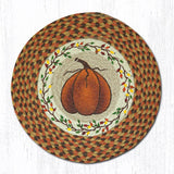 Capitol Earth Rugs Printed Chair Pad, Harvest Pumpkin