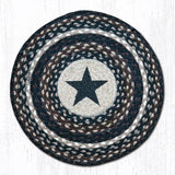 Capitol Earth Rugs Printed Chair Pad, Star on Navy