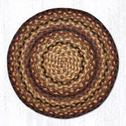 Capitol Earth Rugs Braided Jute Chair Pad, Black Cherry/Chocolate/Cream