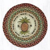 Capitol Earth Rugs Printed Chair Pad, Pineapple