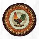 Capitol Earth Rugs Printed Chair Pad, Rooster