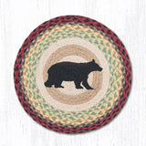 Capitol Earth Rugs Printed Chair Pad, Cabin Bear