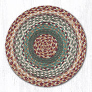 Capitol Earth Rugs Braided Jute Chair Pad, Buttermilk/Cranberry