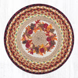 Capitol Earth Rugs Printed Chair Pad, Autumn Wreath