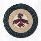Capitol Earth Rugs Printed Chair Pad, Thunderbird