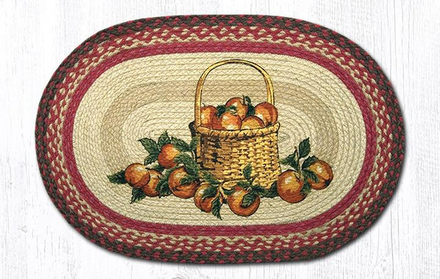 "Capitol Earth Rugs apple Basket Oval Patch Rug, 20"" x 30"""