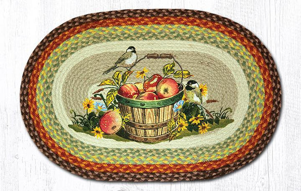 "Capitol Earth Rugs Apple Chickadee Oval Patch Rug, 20"" x 30"""