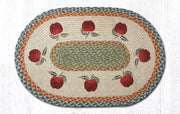 "Capitol Earth Rugs Apples Oval Patch Rug, 20"" x 30"""