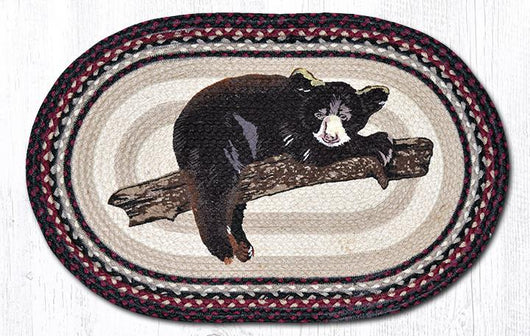 Capitol Earth Rugs Baby Bear Oval Patch Rug, 20
