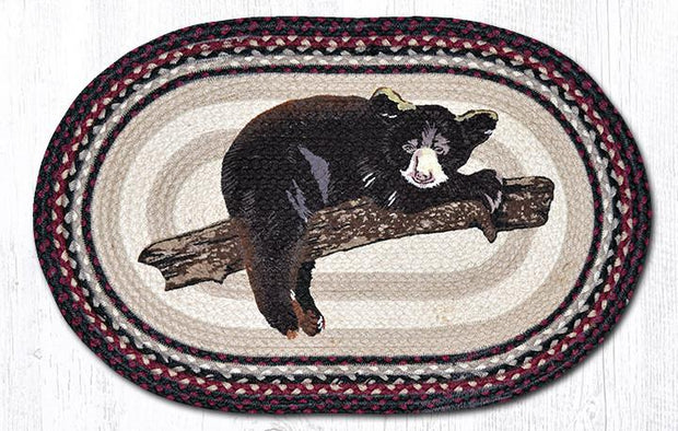 "Capitol Earth Rugs Baby Bear Oval Patch Rug, 20"" x 30"""