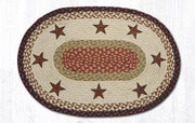 "Capitol Earth Rugs Barn Stars Oval Patch Rug, 20"" x 30"