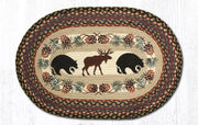 "Capitol Earth Rugs Bear & Moose Oval Patch Rug, 20"" x 30"