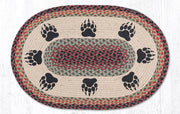 "Capitol Earth Rugs Bear Paw Oval Patch Rug, 20"" x 30"""