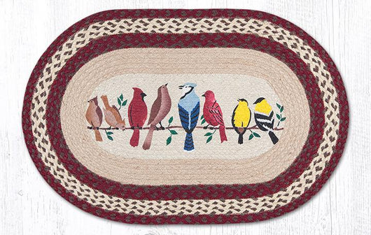 Capitol Earth Rugs Birds on a Wire Oval Patch Rug, 20