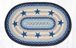 Blue Stars Oval Patch Rug