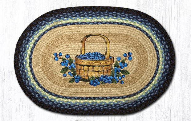 "Capitol Earth Rugs Blueberry Basket Oval Patch Rug, 20"" x 30"""