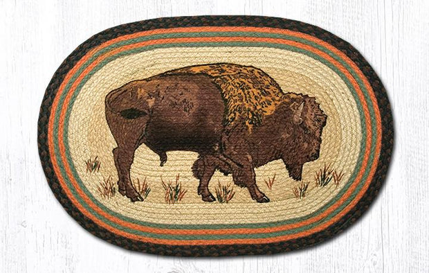 "Capitol Earth Rugs Buffalo Oval Patch Rug, 20"" x 30"""