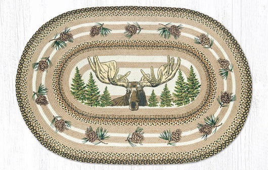 Capitol Earth Rugs Bull Moose Oval Patch Rug