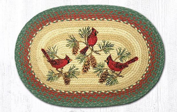Cardinals Oval Patch Rug