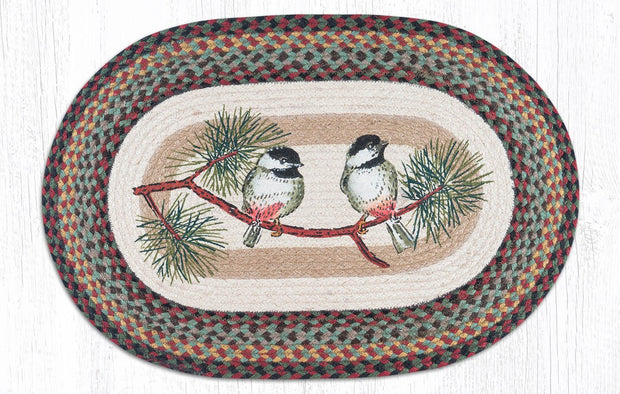 "Capitol Earth Rugs Chickadee Oval Patch Rug, 20"" x 30"""