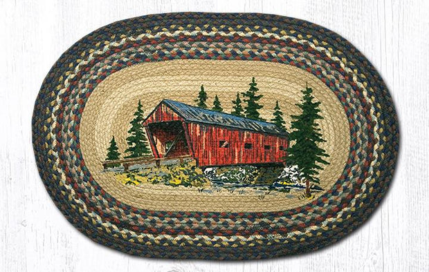 "Capitol Earth Rugs Covered Bridge Oval Patch Rug, 20"" x 30"""